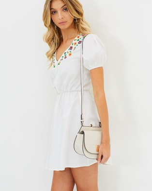 Buy Atmos & Here - Sophia Embroidered Dress White -  shop Atmos & Here dresses online