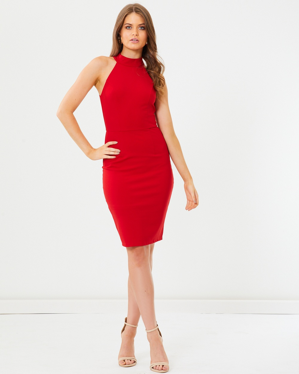 Tussah Rosana Bodycon Dress Bodycon Dresses Red Rosana Bodycon Dress