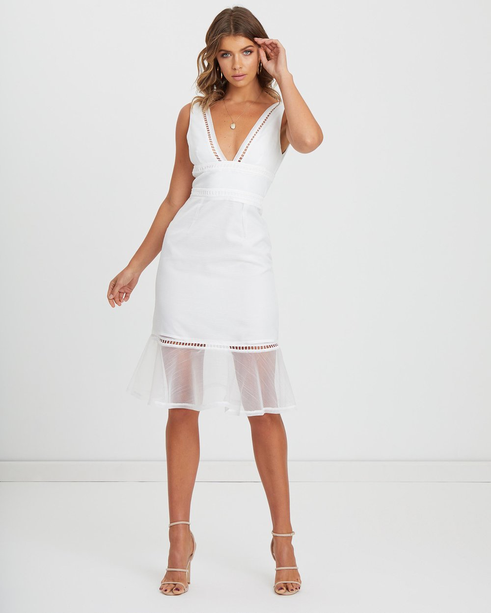 52ec8f9368 ICONIC EXCLUSIVE - Ollie Organza Midi Dress by Atmos Here Online ...