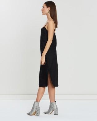 Isabelle Quinn Valaree Midi Slip Dress - Dresses (Black)