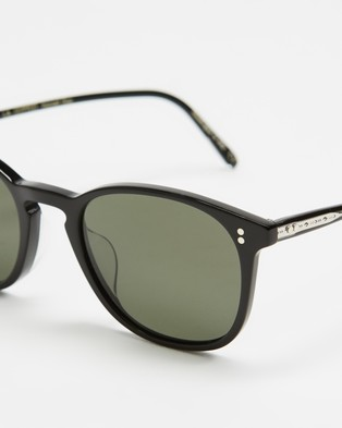 Oliver Peoples Finley Vintage Sun - Square (Black & G-15 Polar)