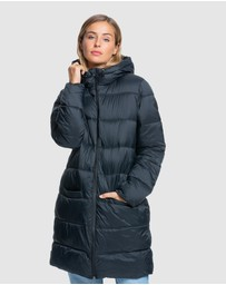 Roxy - Womens Crest Of The Wave Hooded Puffer Jacket