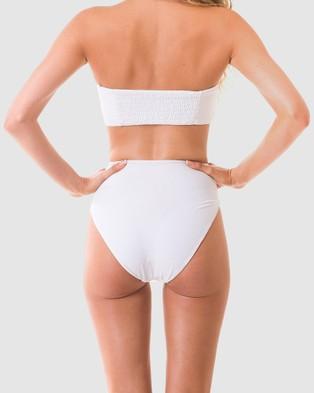 RH Swimwear - Belt High Rise Bikini Bottoms - Bikini Bottoms (White) Belt High Rise Bikini Bottoms