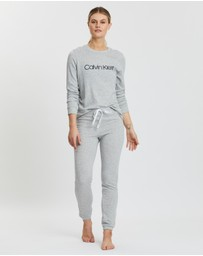 Calvin Klein - Logo Sleep Sweatshirt & Pants Set