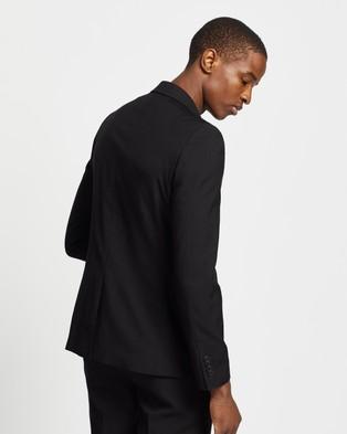 Double Oak Mills Dom Slim Suit Jacket - Suits & Blazers (Black)