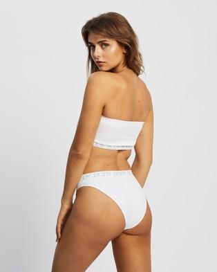 Cotton On Body Seamfree Bandeau & Brief Set - Bikini Briefs (White & Grey Logo)