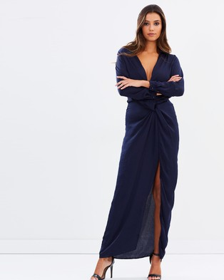 Lioness – Positano Nights Maxi Dress – Dresses (Navy)