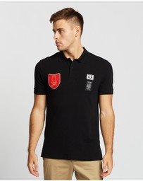 Fred Perry - Art Comes First Shield Patch Pique Shirt