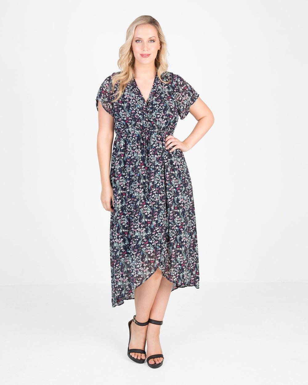 Love Your Wardrobe Holly Print Maxi Dress Printed Dresses Holly Floral Holly Print Maxi Dress