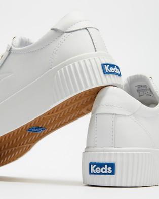 Keds - Crew Kick Alto Leather Sneakers   Women's - Sneakers (White) Crew Kick Alto Leather Sneakers - Women's