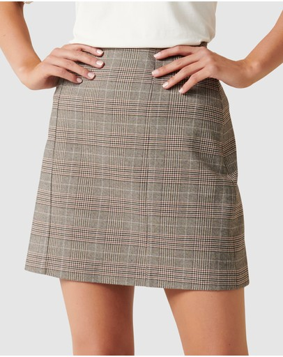 Forever New - Rylie Check Aline Mini Skirt