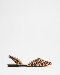 Atmos&Here - Leopard Slingback Flats
