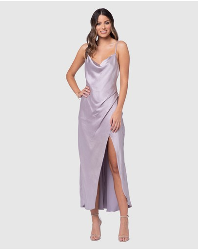 Pilgrim Aurora Satin Dress Oyster