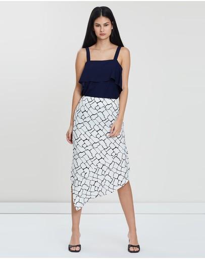 Grace Willow Phoebe Skirt White United Print