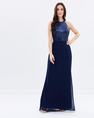 Alabaster The Label – Queen Of The Night Dress – Bridesmaid Dresses (Navy)