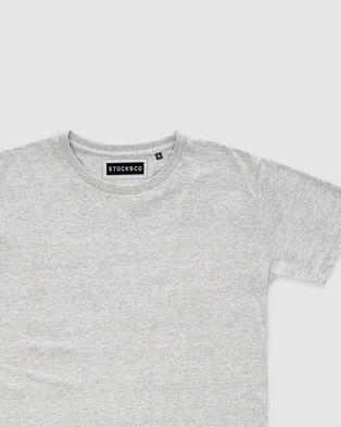 Stock & Co. - Stock Tee   Teens - T-Shirts & Singlets (GREY) Stock Tee - Teens