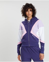 Champion - Reverse Weave Colour Block Hooded Jacket