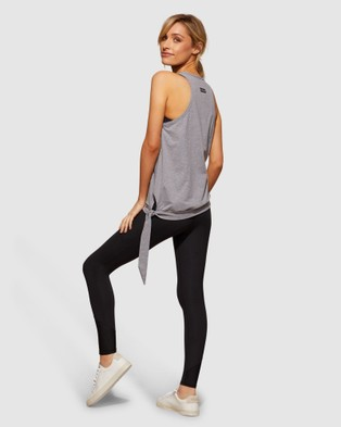 dk active - Tie Side Tank Muscle Tops (Charcoal White) Tie-Side