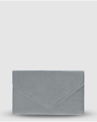 Cobb & Co Hamilton Leather Envelope Style Wallet Mist
