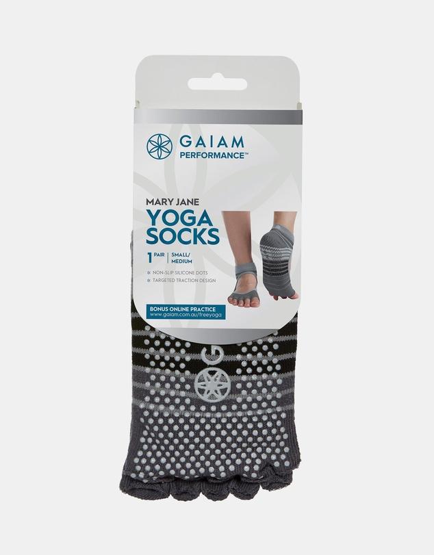 Men Mary Jane Yoga Open Toe Socks