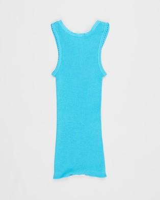 Bonds Baby Baby Vest 3 Pack - T-Shirts & Singlets (Multi - Blue, Aqua and Grey)