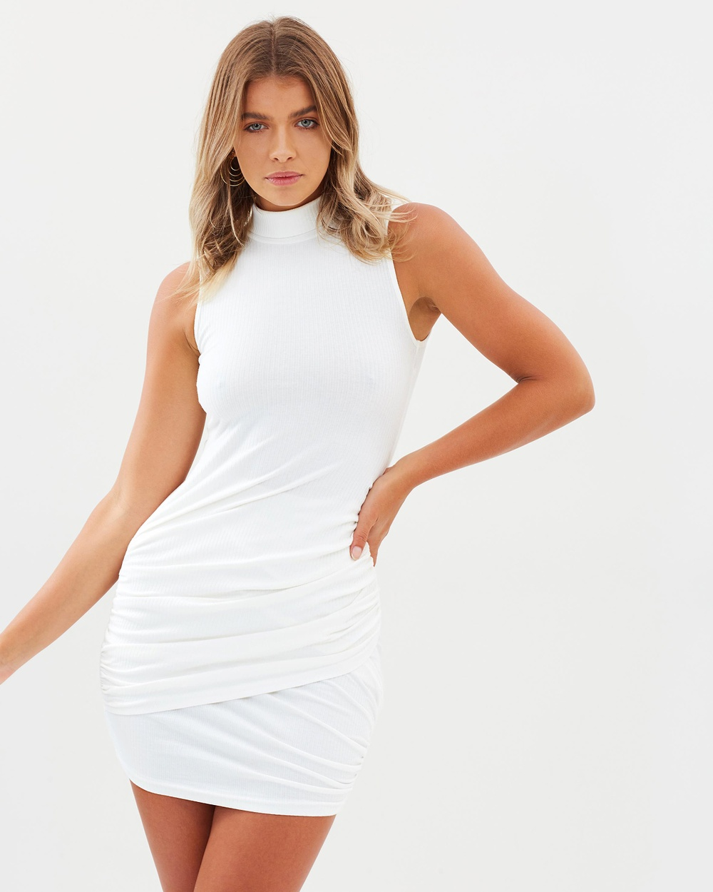 Lioness Flirtatious Love Dress Bodycon Dresses White Flirtatious Love Dress