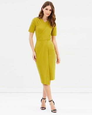Closet London – Closet Draped Jersey Dress Mustard