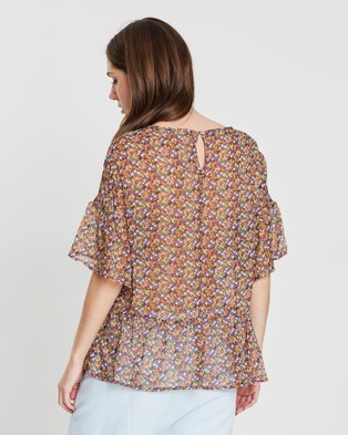 Lincoln St The Frill Hem Top - Tops (Multi)