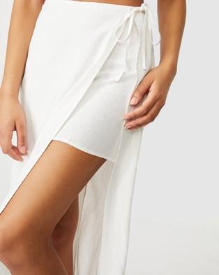 Cotton On Clara Wrap Midi Skirt - Skirts (White)