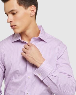 Oxford Islington F c Dobby Regular Shirt - Shirts & Polos (Purple)