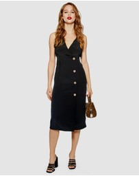 TOPSHOP - Button Midi Dress