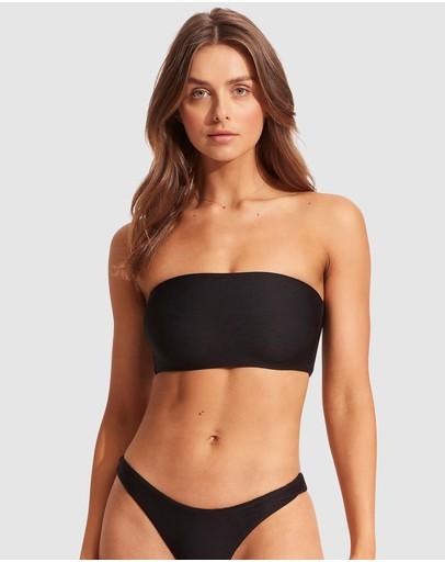 Seafolly Essentials Tube Bandeau Bikini Top Black