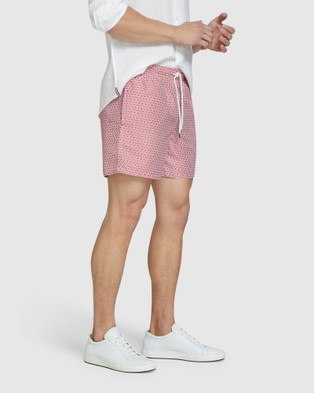 Oxford Reece Swim Board Shorts - Swimwear (Red)