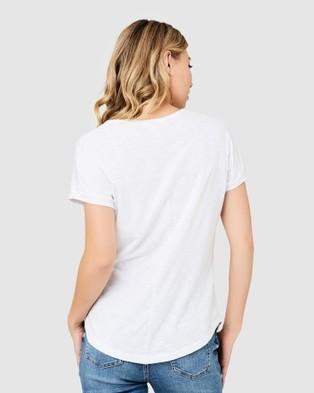 Ripe Maternity Jaiden Tee - T-Shirts & Singlets (White)