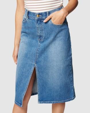 Forever New Lydia Midi Denim Skirt - Denim skirts (Mid Wash)