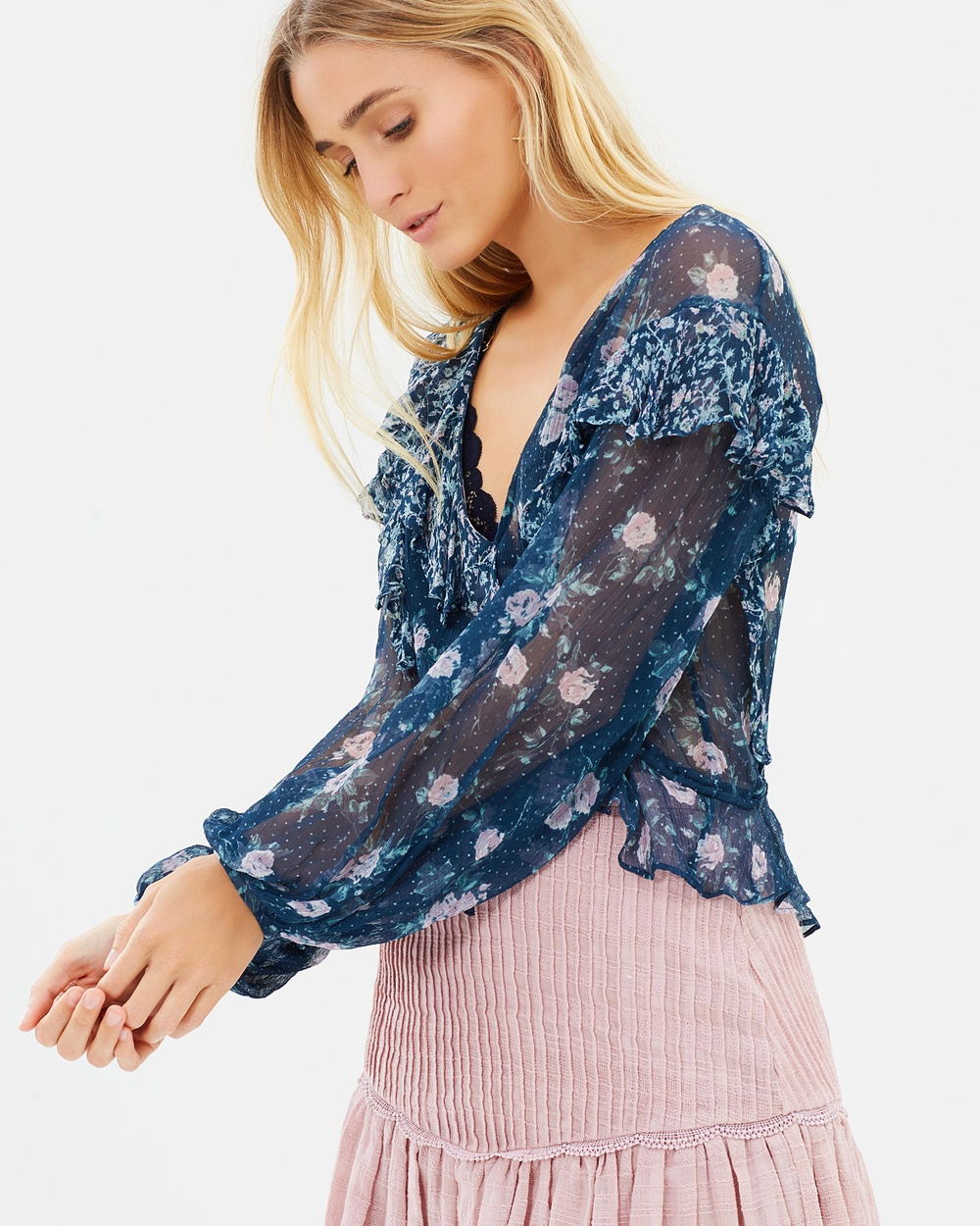 Stevie May Florent Top Tops Mixed Floral Print Florent Top