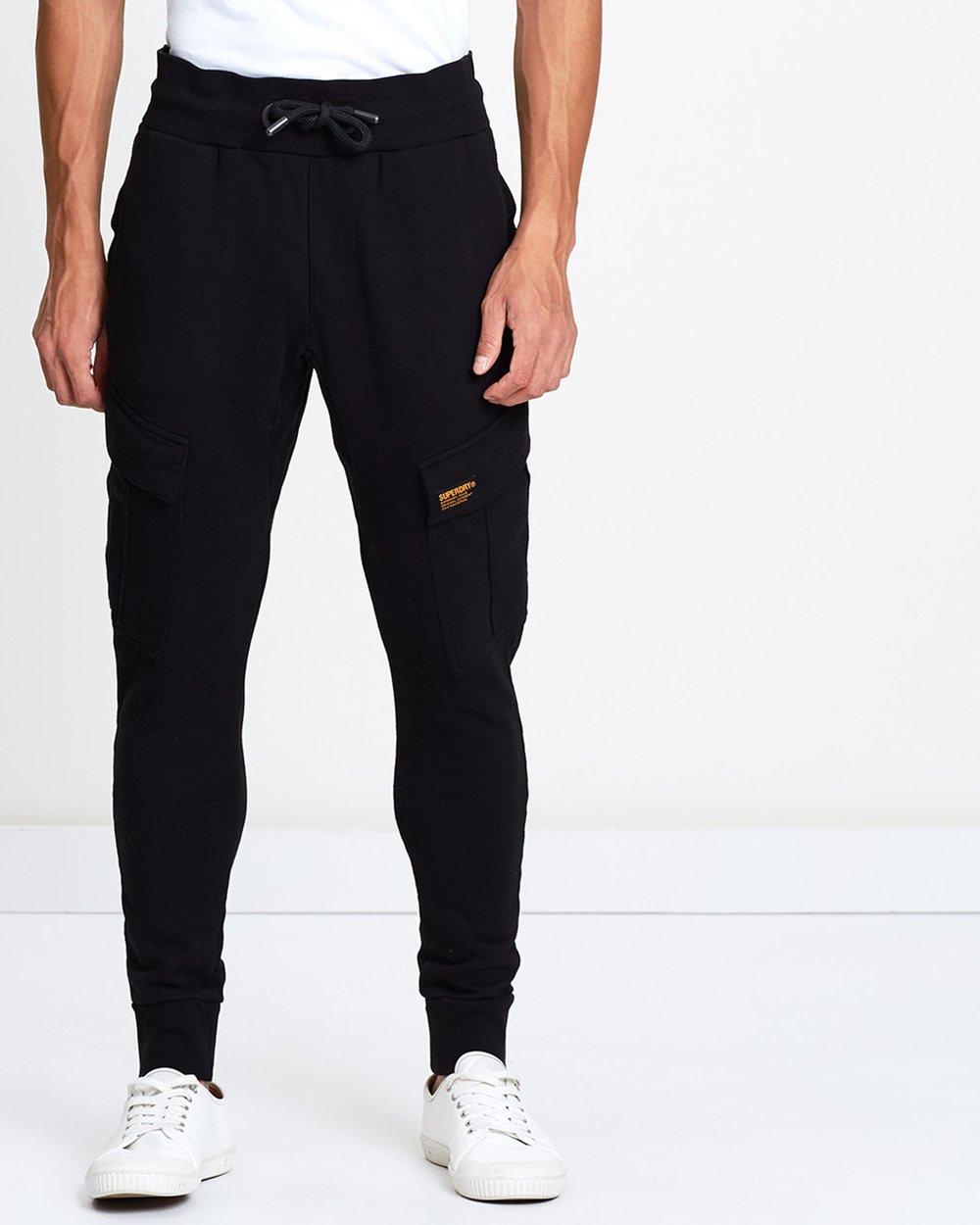 Men's Clothing 30 100% Quality Superdry Black Jog Jeans