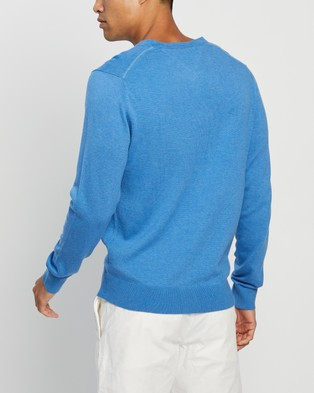 Tommy Hilfiger Cotton Silk V Neck Sweater - Jumpers & Cardigans (Regatta)