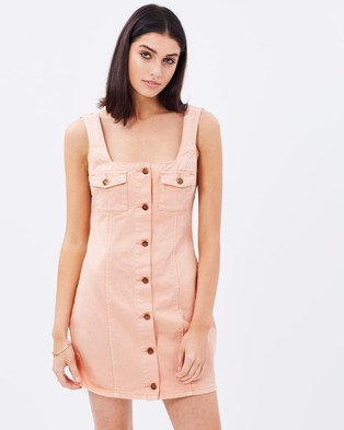 MINKPINK – Bridgette Denim Dress – Dresses (Nude Pink)