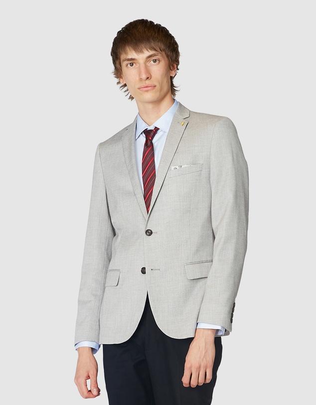 Men Grey Textured Blazer