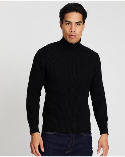 Cerruti 1881 Merino Wool Knit Black