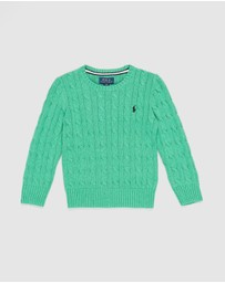 Polo Ralph Lauren - Combed Cotton Cable Sweater - Kids
