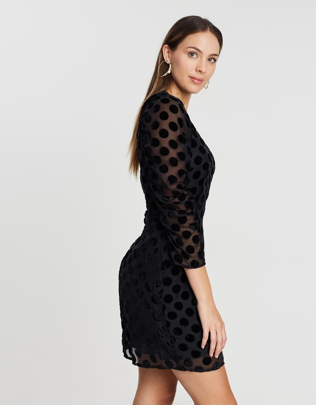 Cooper St - Spin Me Around Mini Velvet Spot Dress