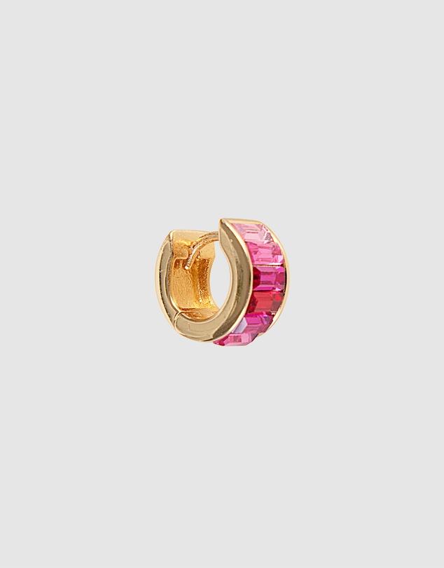 Women Pink Ombre Crystal Huggies