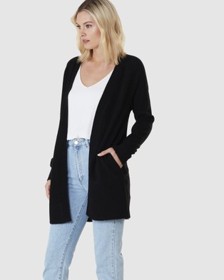 Everly Collective Brooklyn Short Cardigan - Jumpers & Cardigans (Black)