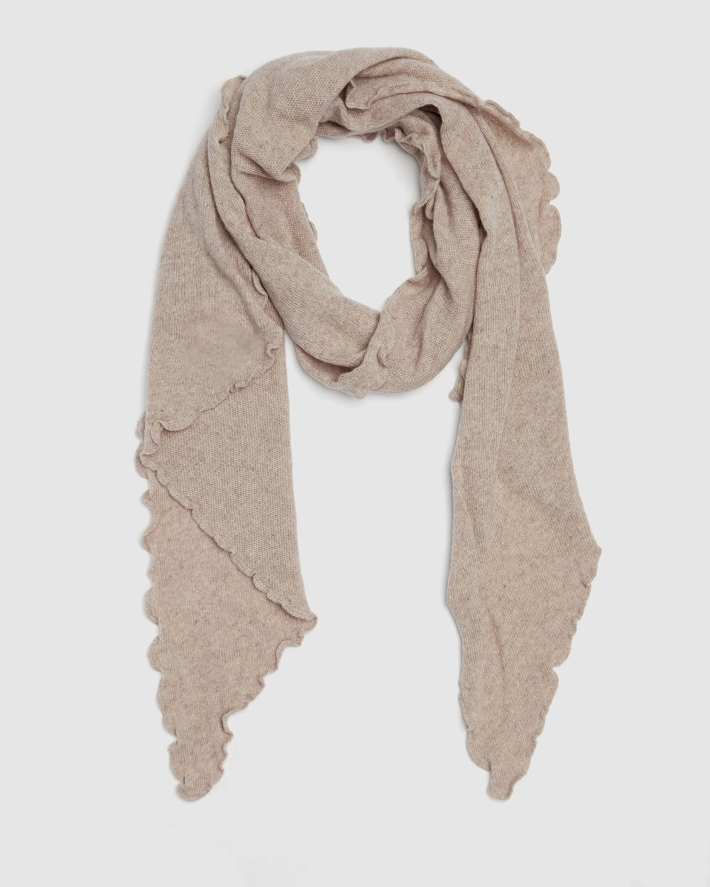 Kate & Confusion Asymmetrical Scarf Scarves Gloves Pink
