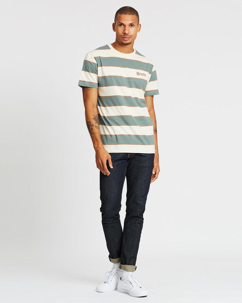 Brixton Hilt Print Knit T Shirt Dove//Cypress