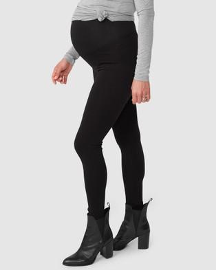 Pea in a Pod Maternity Hudson Ponte Leggings - Full Tights (Black)