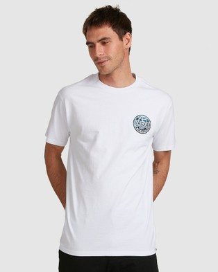 DC Shoes - Mens Around The Glode Short Sleeve T Shirt T-Shirts & Singlets (White)