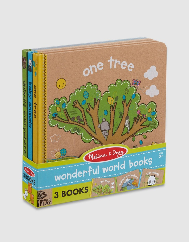 Melissa & Doug - Natural Play - Wonderful World Books Bundle